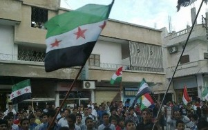 Demonstration in Aleppo, 23.05.2012 Bild: n-tv.de